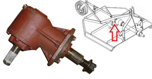 King Kutter Rotary Cutter - 40 hp Gearbox - Splined -- 184010