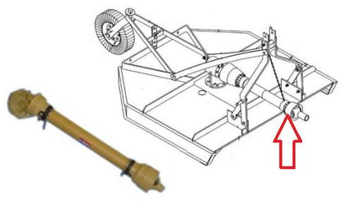 "Drive Shaft(Splined on Gearbox Input Shaft for Slip Clutch)(34"" Long) -- 147134"
