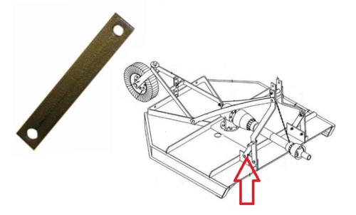 King Kutter Rotary Cutter Short Frame Support Bracket -- 310071