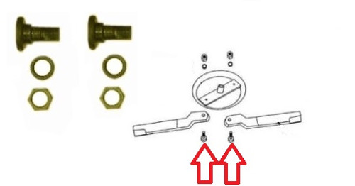 King Kutter Blade Bolt Set with Nuts and Washers -- 501001