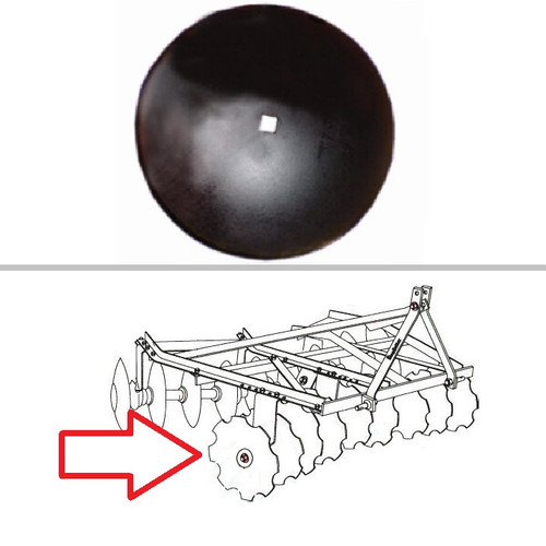 "King Kutter Angle Frame Disc Harrow Round 18"" Blade -- 189118"