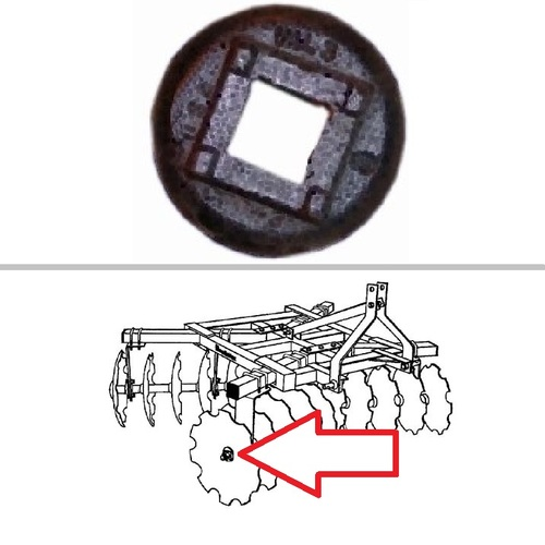 King Kutter Box Frame Disc Harrow Cast Iron Nut Washer -- 129605