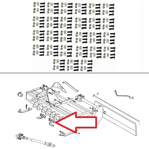 King Kutter 6' Rotary Tiller 108 Piece Tine Bolt Set -- 505108