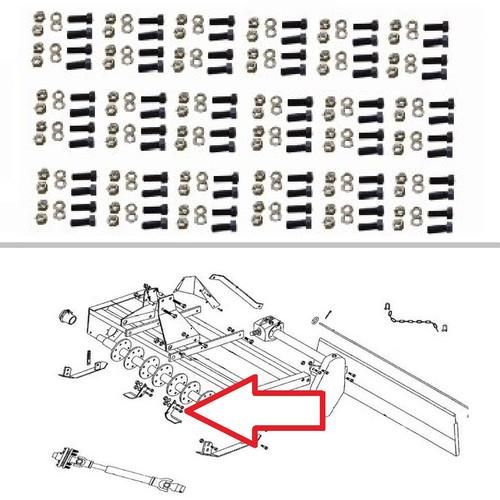 King Kutter 4' Rotary Tiller 72 Piece Tine Bolt Set -- 505072