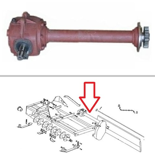 King Kutter RTD-30-500 Rotary Tiller Gearbox Assembly -- 184064