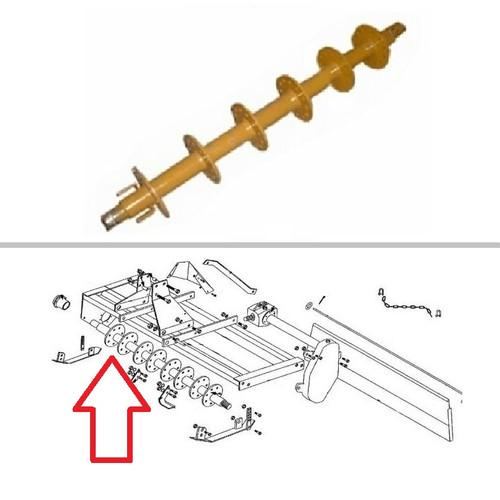 King Kutter 5' Rotary Tiller Rotor Assembly -- 402042