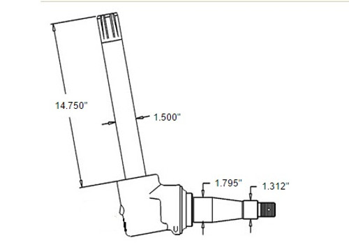 Spindle(Fits Left or Right) -- AR53850