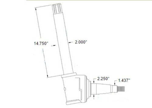 Spindle(Fits Left or Right) -- AR53880