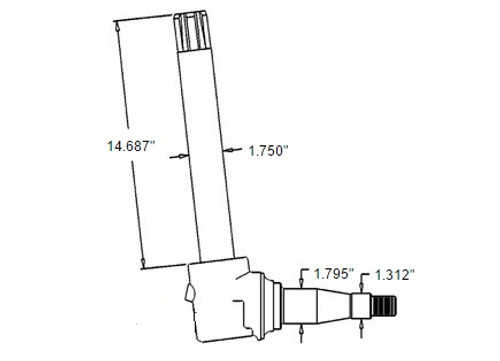 Spindle(Fits Left or Right) -- AR69323