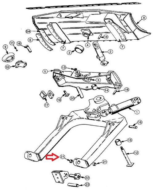 Case Dozer Bushing U Frame To Dozer D33678