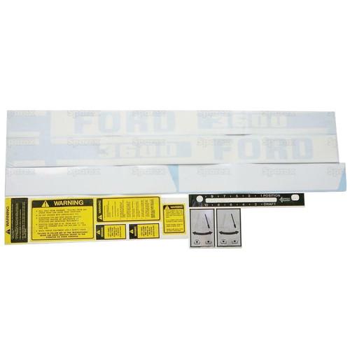 Ford 8340 Kit de la etiqueta hasta 1996
