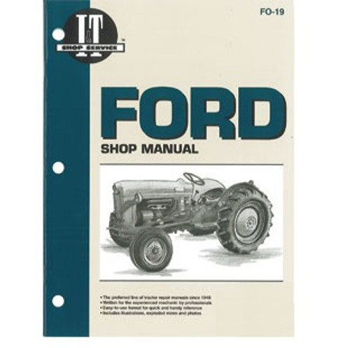 Ford NAA Jubilee Tractor Shop Repair Manual -- FO-19