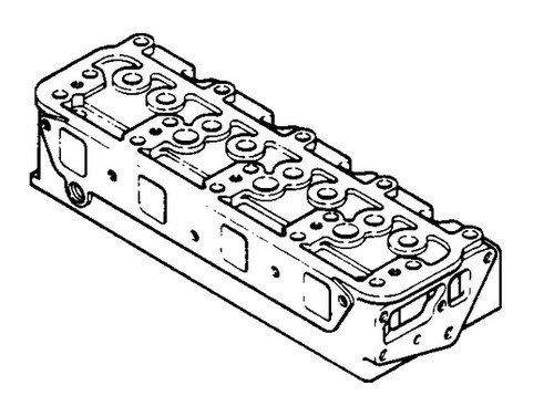 Case Backhoe Engine Cylinder Head