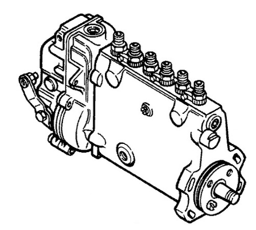 Case Rebuilt Injection Pump (Case 504BD Engine) -- IP504