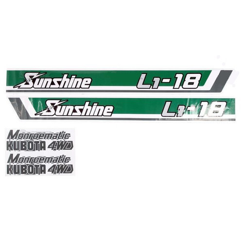 Kubota Tractor Hood Decal Set -- S.20365