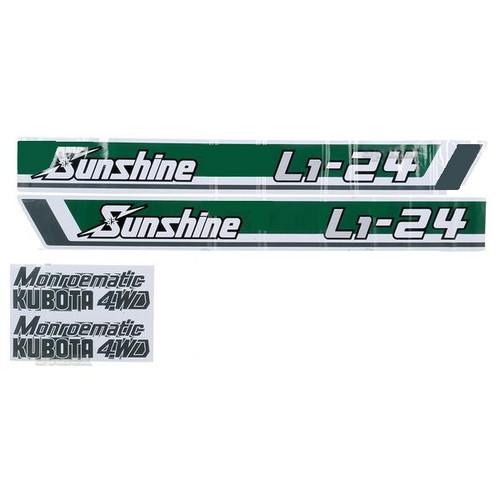Kubota Tractor Hood Decal Set -- S.20368
