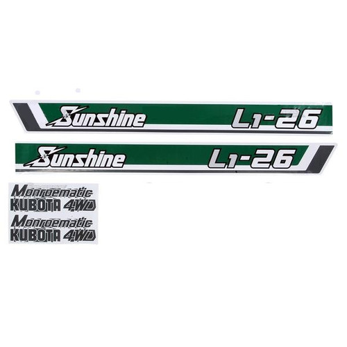 Kubota Tractor Hood Decal Set -- S.20369