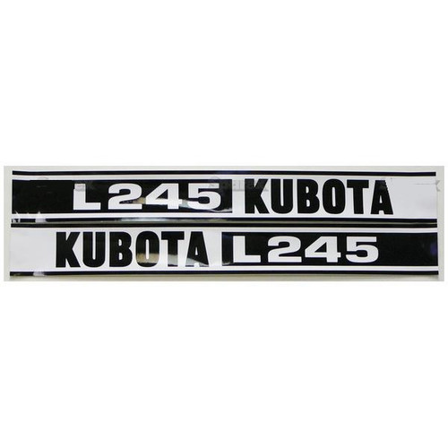 Kubota L245 Hood Decal Set -- S.23093