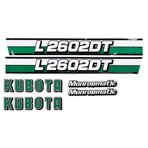 Kubota Tractor Hood Decal Set -- S.20363