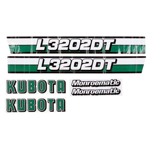 Kubota Tractor Hood Decal Set -- S.20364