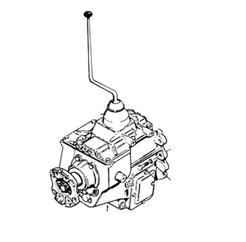 Case Backhoe Transmission and Rear End (Complete)