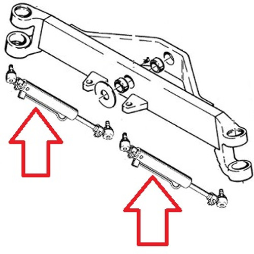 Case Backhoe Power Steering Cylinder(2WD) (4wd) With 6