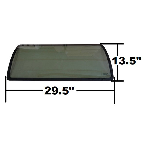 Bobcat Upper Curved Windshield Glass -- 6817370