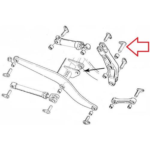 Case Wheel Loader Center Bell Crank Pin L125016