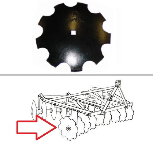 """King Kutter XB Angle Frame 14"""" Notched Disc"""