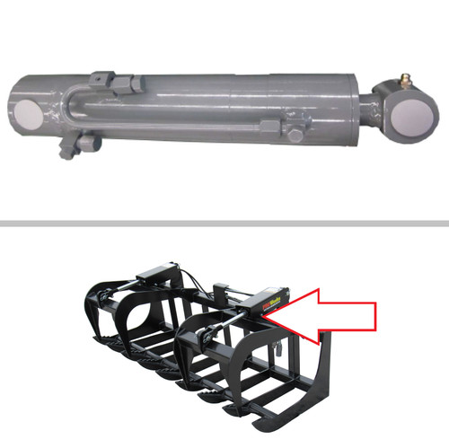 """Bobcat Industrial & Root Grapple Cylinder (Industrial Grapple Bucket: 62"""" AFOS, 68"""" AFOR, 74"""" AFOH, 80"""" AFOP)  (Industrial Grapple Fork: 66 AFOU, 78 AEDF)  (Root Grapple: 66 AFOT, 72 AE6H, 82 AFON( -- 7212595"""