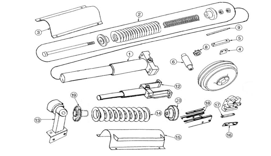 John Deere Track Parts | Dozer Track Adjuster | BrokenTractor com
