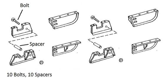 John Deere Dozer Track Guide Set 450, 450B, 450C, 450D