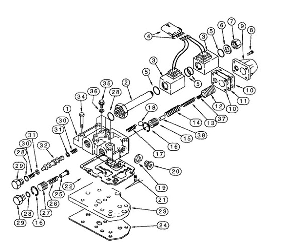 Transmission Control Valve Assembly Will Not Work On Machines W