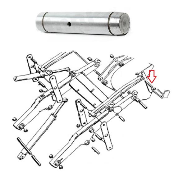 Case Loader Bucket Pin Upper D126718 580c 580d 580e 580 Super E