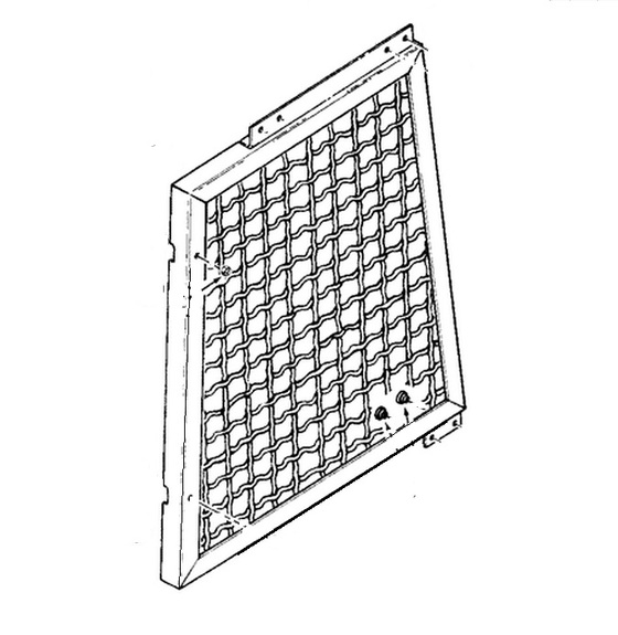 R39248 Case Dozer Right Brush Screen 1150B, 1150C, 1150D