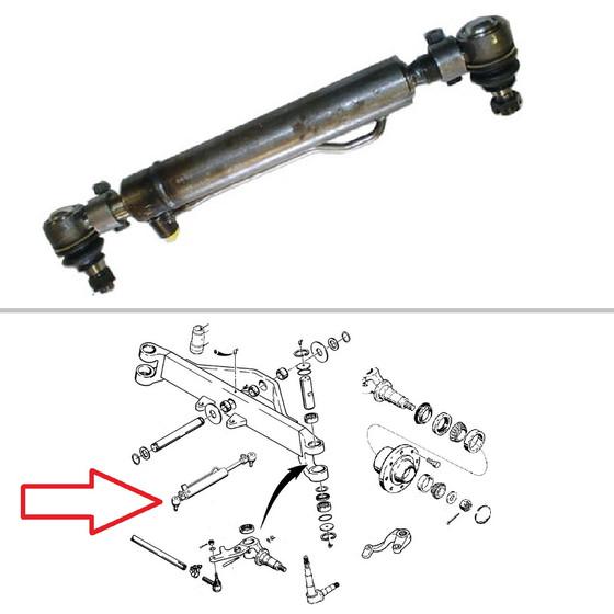 Case Backhoe Power Steering Cylinder, 4WD, 8-Lug Front