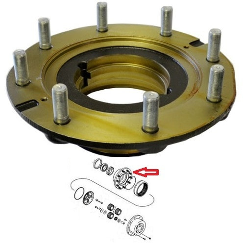 New Holland Backhoe 4WD Front Axle Planetary Hub -- 85806003