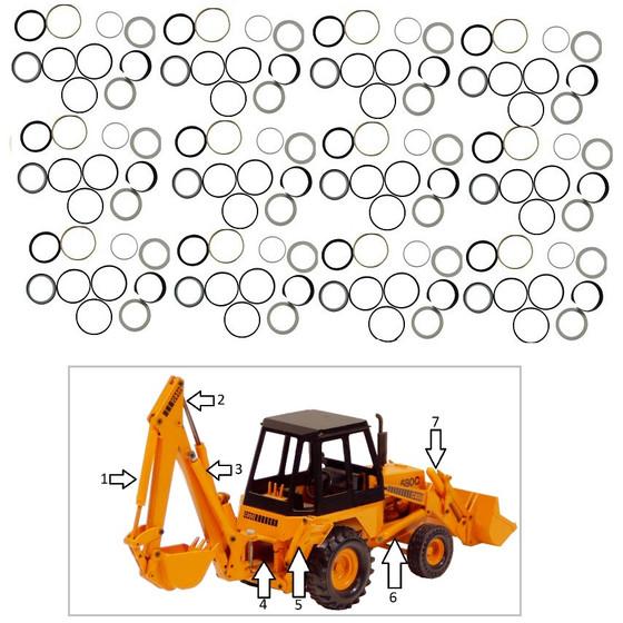 Hydraulic Seal Kit New Case Lift Tilt Cylinder G109484