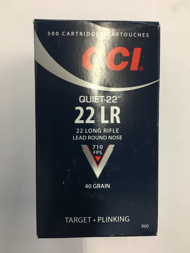 CCI Quiet-22 .22lr .40gr LRN (500rnds)