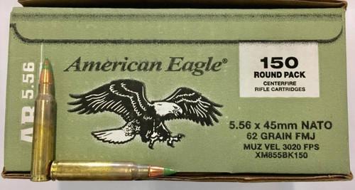 American Eagle XM855 5.56x45mm 62gr FMJ-BT (150rnds)