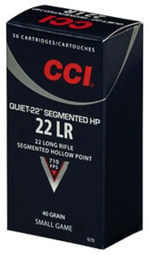 CCI Quiet-22 .22lr 40gr Segmented HP (50rnds)