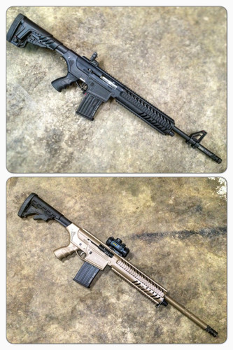 Cerakote - Disassembled AR-15 Style Rifle