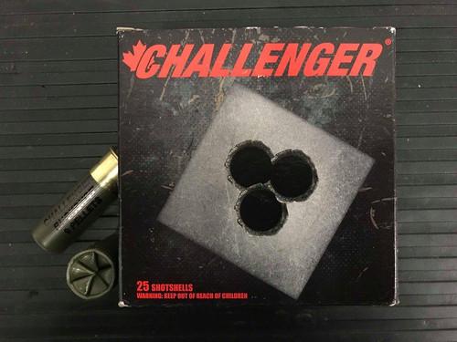 """12 GAUGE - CHALLENGER TARGET BUCKSHOT, 2-3/4"""" 00-BUCK 9-PELLET BOX OF 25 SHELLS"""