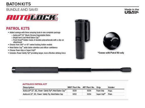 """Safariland Monadnock  22"""" Autolock Baton Patrol Kit"""