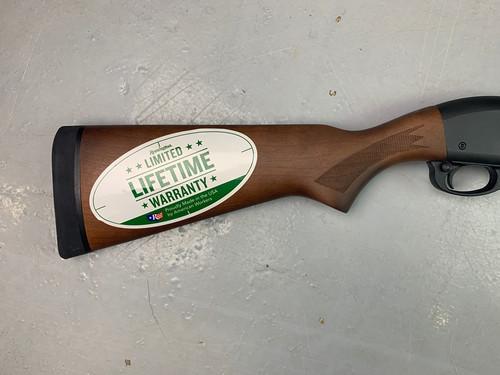 "Remington 870 ""Security"" Hardwood 18.5"" Shotgun w/ Factory +2 Mag Tube Ext."
