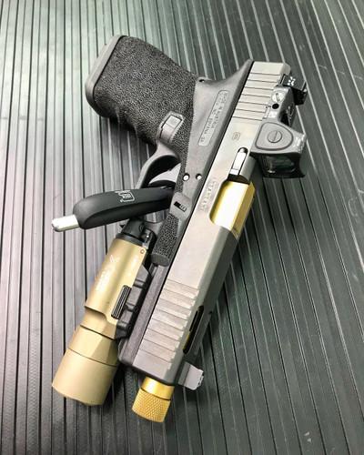 Trijicon Bright & Tough™ Glock Night Sight Suppressor Set — White Front / White Rear with Green Lamps