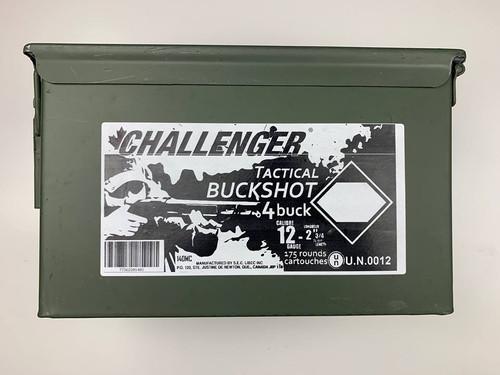 Challenger Tactical Buckshot 4Buck 175Rnd Ammo Can
