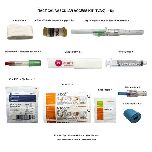 Tactical Vascular Access Kit (TVAK) - 18g - CTOMS