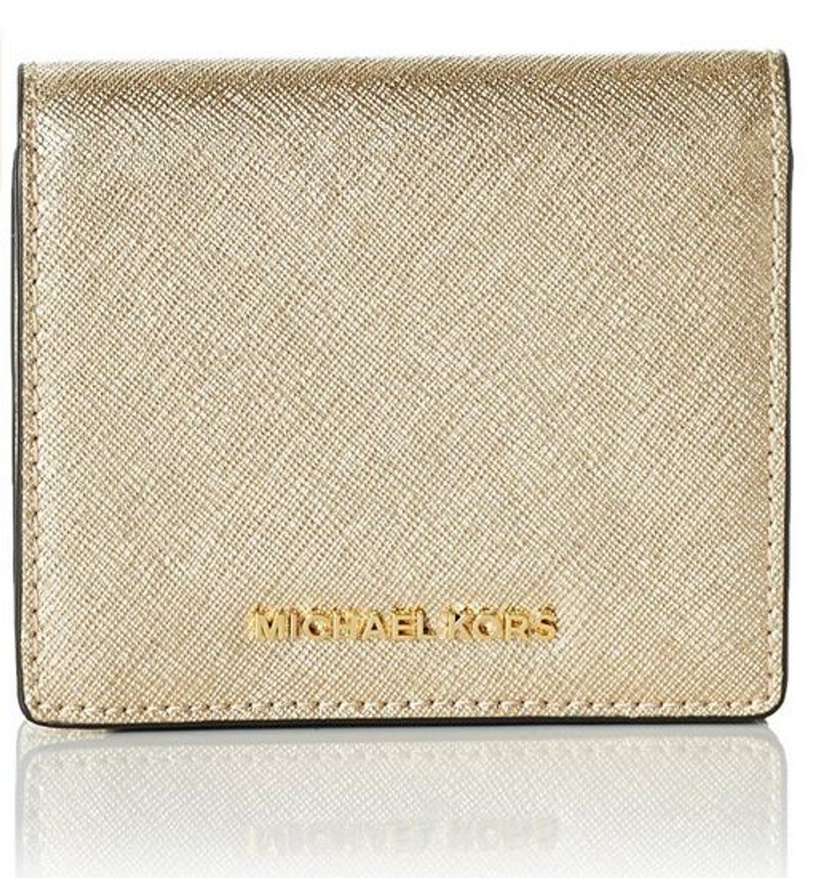 d8d4d1da81f36 Michael Kors Women's Jet Set Carry All Card Case, Pale Gold 32T6MTVD1M-740