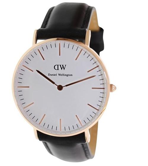 Daniel Wellington Women's 0508DW Classic Sheffield Analog Display Quartz Black Watch